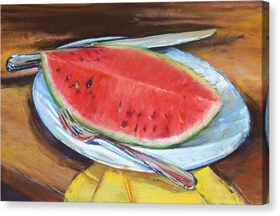 Watermelon Canvas Print by Beverly Amundson
