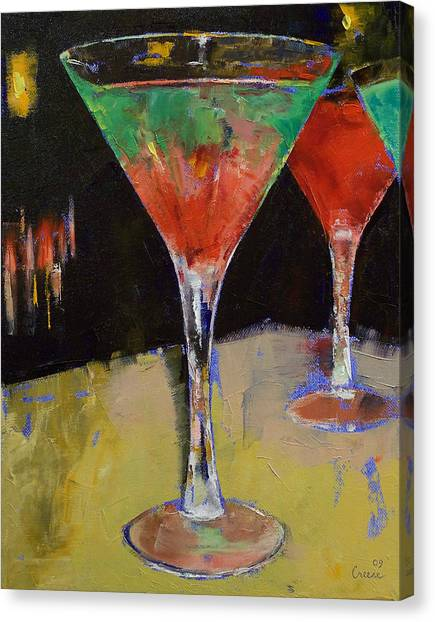 Watermelons Canvas Print - Watermelon Martini by Michael Creese