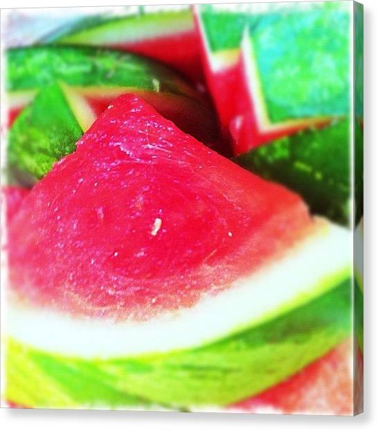 Watermelons Canvas Print - Watermelon #watermelon #juicy #fruit by Artondra Hall