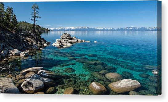 Lake Tahoe Canvas Print - Waterscape P5127093 by Martin  Gollery