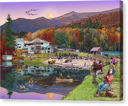 Waterville Estates In Autumn Canvas Print