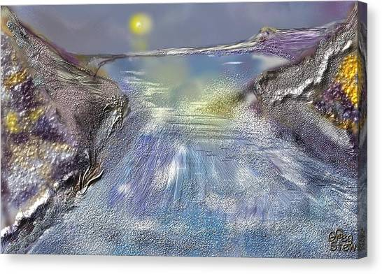 Waterway Rush Canvas Print by Gregory Steward