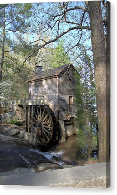 Waterwheel At Stone Mountain Canvas Print