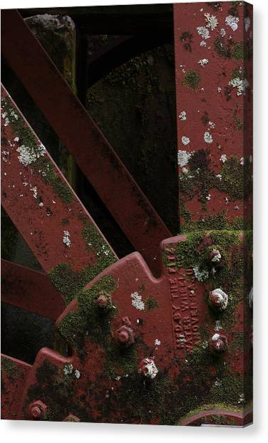 Waterwheel Up Close Canvas Print