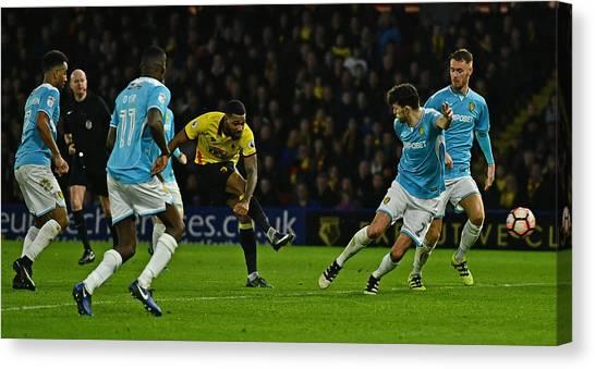 Watford V Burton Albion - The Emirates Fa Cup Third Round Canvas Print by Dan Mullan