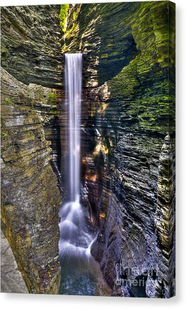 Watkins Glen Cascade Canvas Print