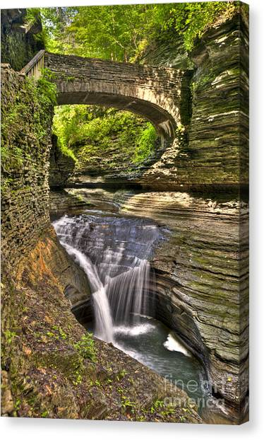 Watkins Glen Waterfalls Canvas Print
