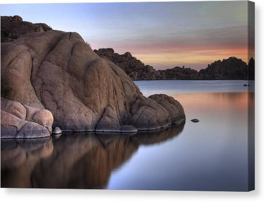 Watson Lake Arizona Colors Canvas Print