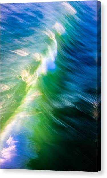 Canvas Print featuring the photograph Wave Abstract Triptych 1 by Brad Brizek