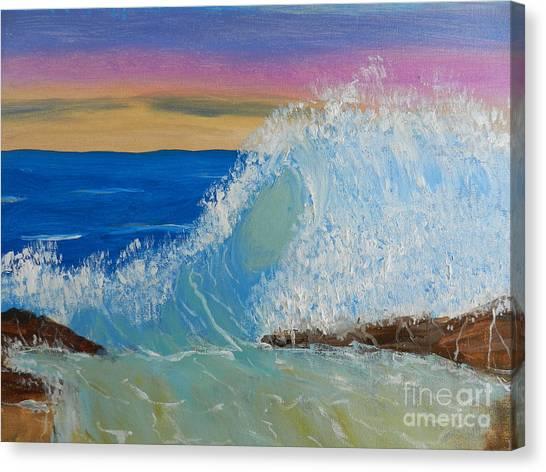 Wave At Sunrise Canvas Print