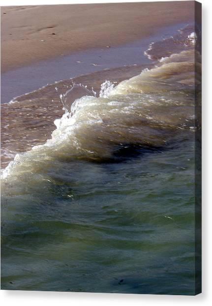 Wave Flowing Canvas Print by Jack Adams