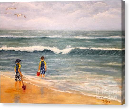 Wave Gazing Canvas Print