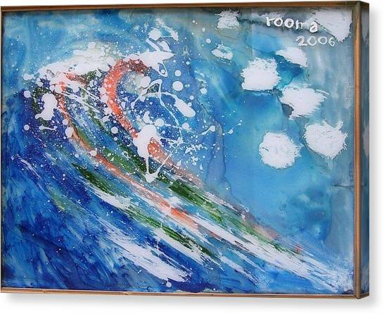Wave Canvas Print by Rooma Mehra