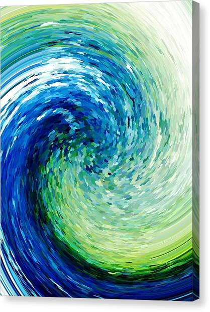 Wave To Van Gogh Canvas Print
