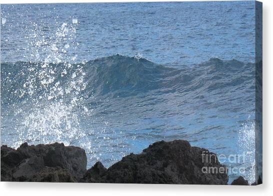 Wave - Vague - Ile De La Reunion - Island Reunion Canvas Print by Francoise Leandre