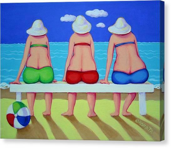 Wave Watch - Beach Canvas Print