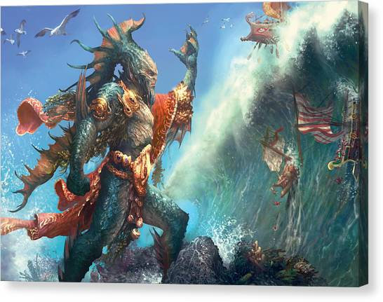 Wavecrash Triton Canvas Print