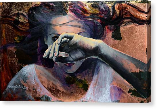 Hand Canvas Print - Wavering... by Dorina  Costras