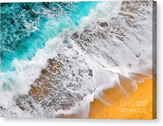Colorful Canvas Print - Waves Abstract by Silvia Ganora
