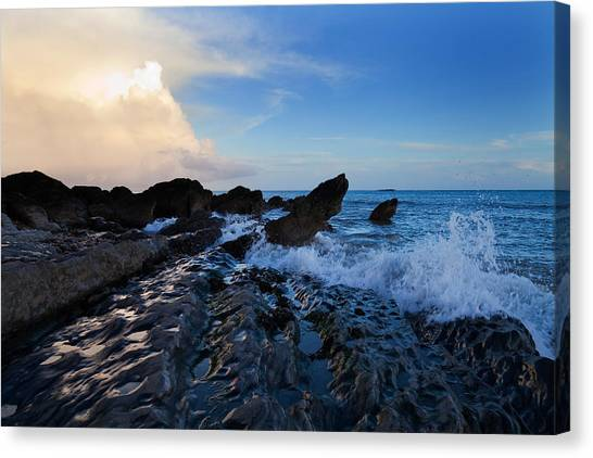 Waterford Canvas Print - Waves And Rocks , Dungarvan Bay, County by Panoramic Images