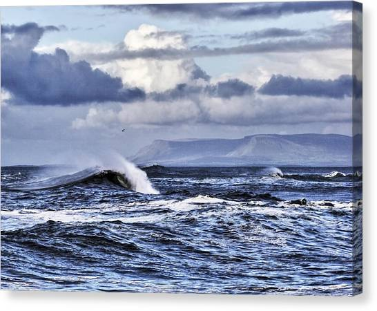 Waves In Easkey Canvas Print by Tony Reddington