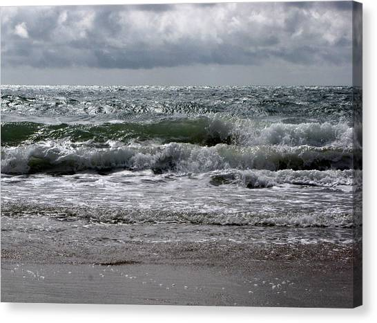 Waves Canvas Print by Karen E Phillips