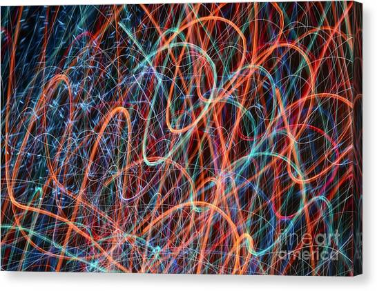 Waves Of Light 1 Canvas Print
