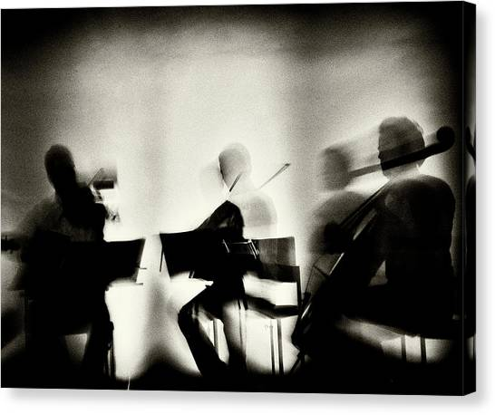 Cellos Canvas Print - Waves Of Music by Mirela Momanu