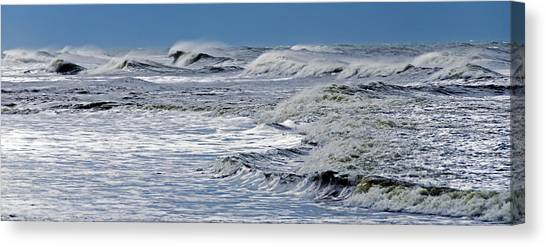 Waves Off Sandfiddler Rd Corolla Nc Canvas Print