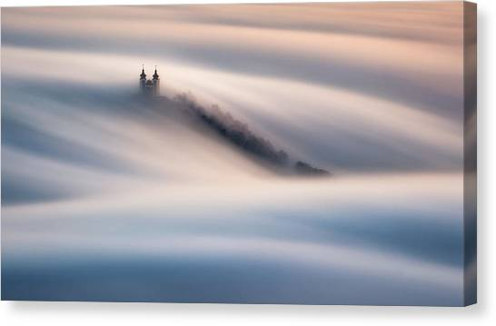 Church Canvas Print - Waves by Peter Kov??ik