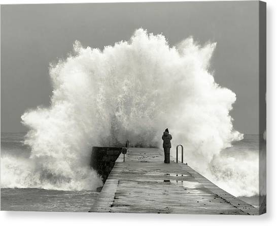 Tides Canvas Print - Waves Photographer by Mikel Lastra