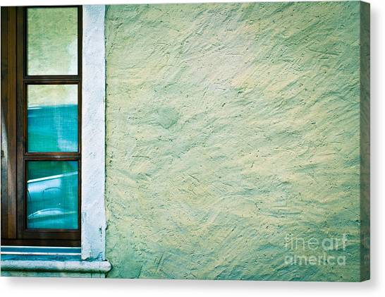 Wavy Wall With Window Canvas Print