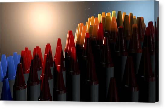 Elementary School Canvas Print - Wax Crayons Imagination by Allan Swart
