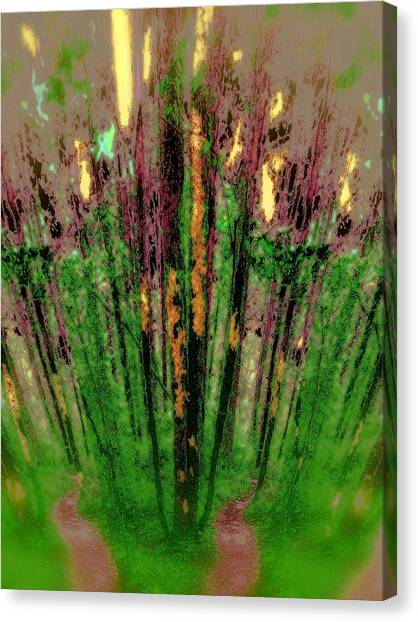 Wax Forest Cathedral Canvas Print