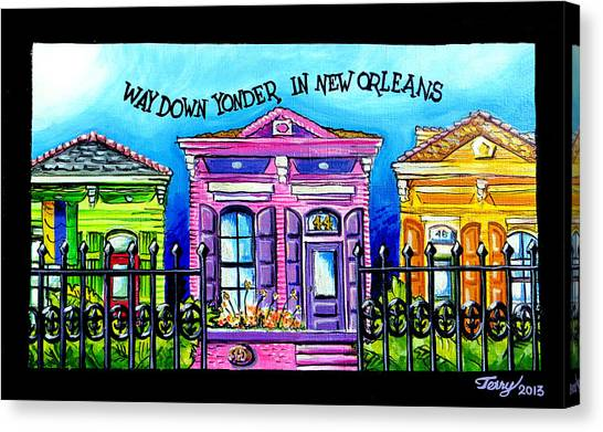 Way Down Yonder In New Orleans Canvas Print by Terry J Marks Sr