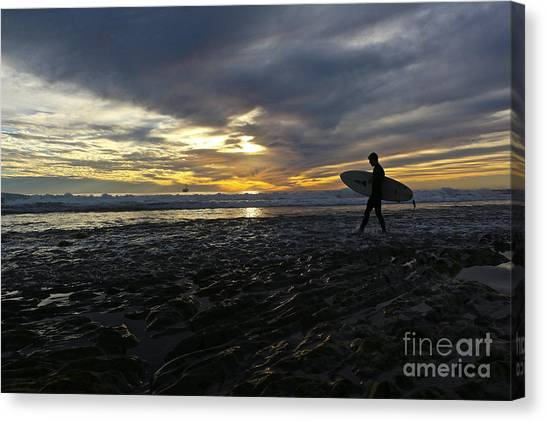 Ucsb Canvas Print - Way Of The Surfer by Heidi Peschel