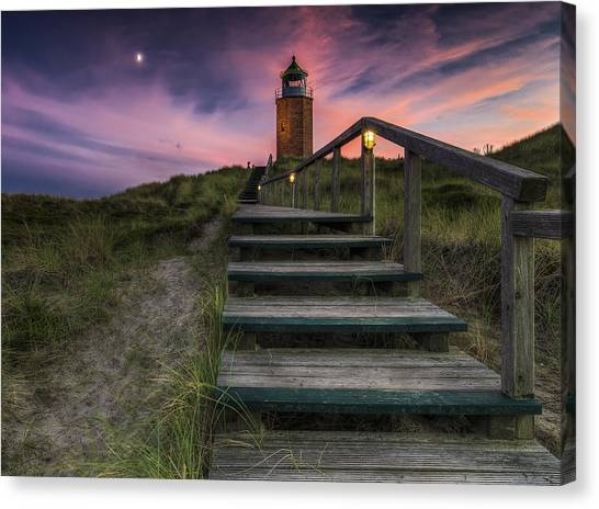 Maritime Canvas Print - Way To Lighthouse by Thomas Siegel