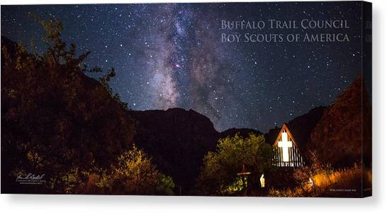 Boy Scouts Canvas Print - Way To The Chapel - Pano by Aaron Bedell