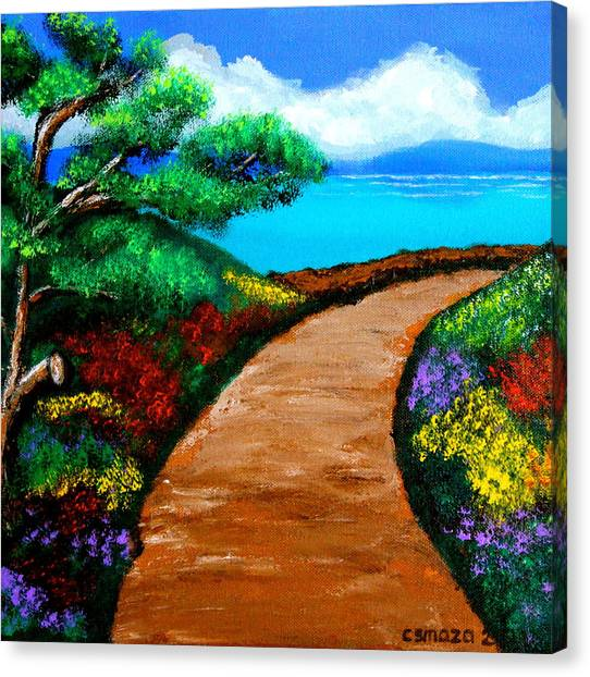 Way To The Sea Canvas Print