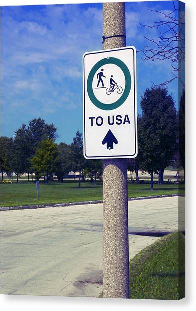 Way To The Usa Canvas Print