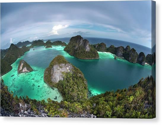 Karsts Canvas Print - Wayag Island by Ethan Daniels
