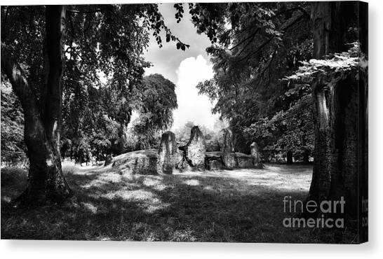 Wayland's Smithy Monochrome Canvas Print by Tim Gainey