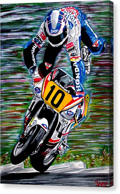 Wayne Gardner Canvas Print by Jose Mendez