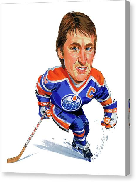 Hockey Players Canvas Print - Wayne Gretzky by Art