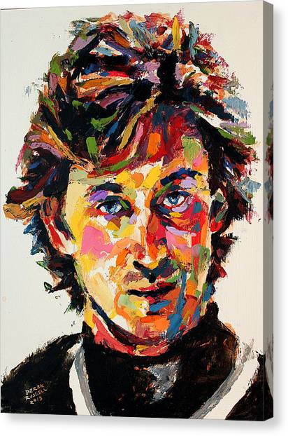 Los Angeles Kings Canvas Print - Wayne Gretzky by Derek Russell