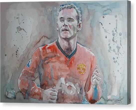 Arsenal Fc Canvas Print - Wayne Ronney - Portrait 1 by Baris Kibar