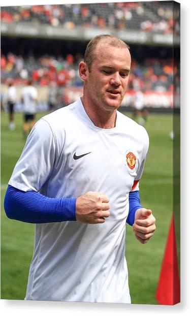 Wayne Rooney Canvas Print - Wayne Rooney 5 by Keith R Crowley
