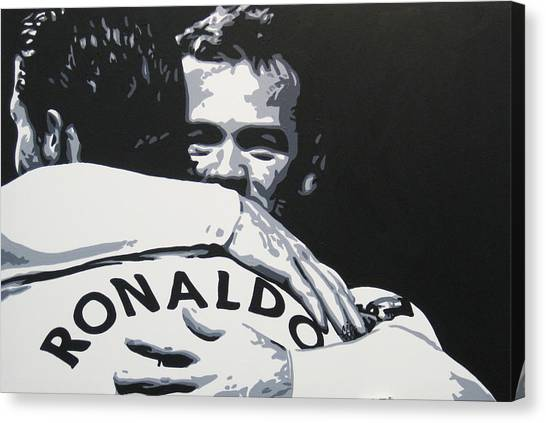 Wayne Rooney Canvas Print - Wayne Rooney And Ronaldo - Manchester United Fc by Geo Thomson