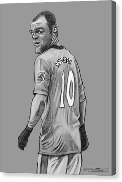 Wayne Rooney Canvas Print - Wayne Rooney by Sri Priyatham