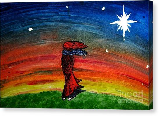 We Are All Made Of Stars Canvas Print by Elizabeth Garton